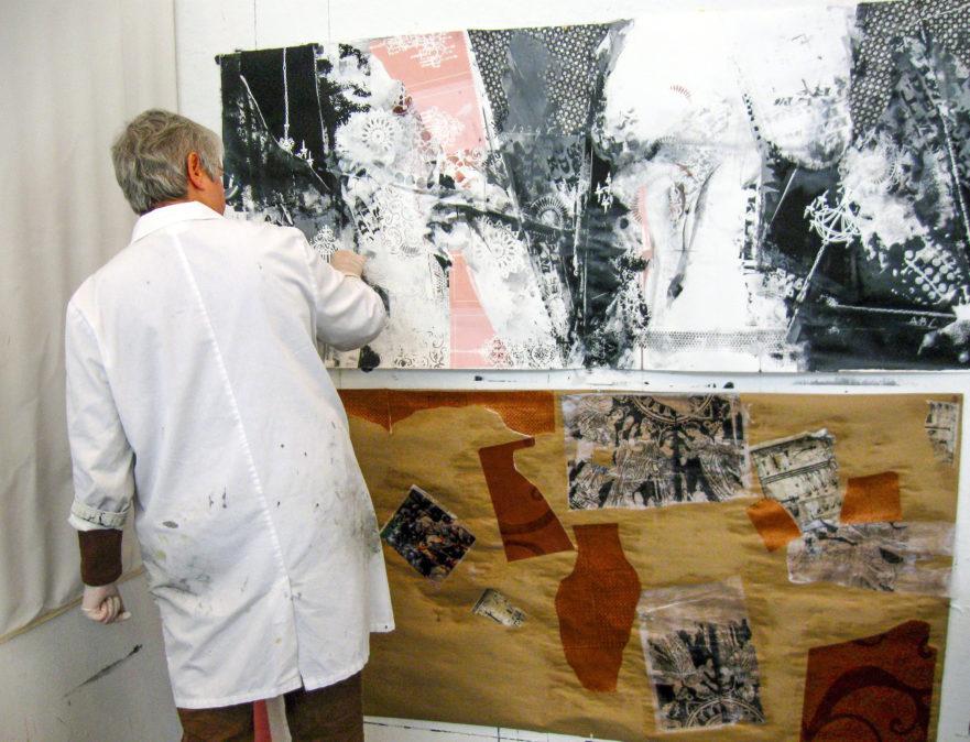 Joanne Working in Studio